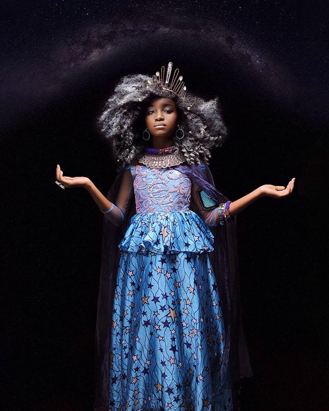 """Bộ ảnh tuyệt đẹp của các nàng công chúa Disney đến từ """"vương quốc Wakanda"""" ảnh 7"""