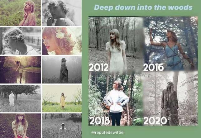 """Có hay không chuyện album """"folklore"""" của Taylor Swift sao chép hình ảnh của Đặng Tử Kỳ? ảnh 3"""