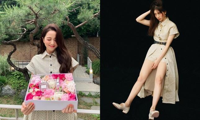 """""""Hoa hậu Hàn Quốc"""" Jisoo BLACKPINK và """"mỹ nhân mặt mộc"""" Suzy lại đụng độ váy áo """"nảy lửa"""" ảnh 5"""