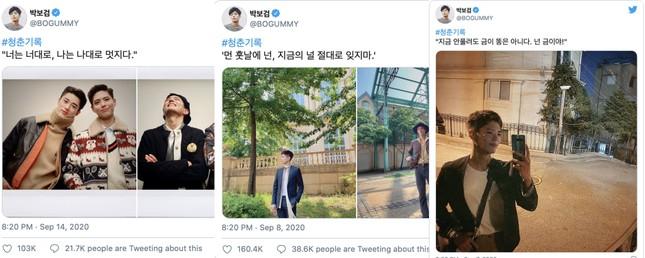 Bí ẩn khó hiểu: Park Bo Gum đã nhập ngũ, không dùng MXH nhưng Twitter vẫn cập nhật đều? ảnh 2