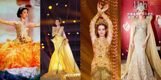 Chưa cần biết ai diện, váy của Nữ thần Kim Ưng năm 2020 đã bị trừ điểm vì một thứ ảnh 2