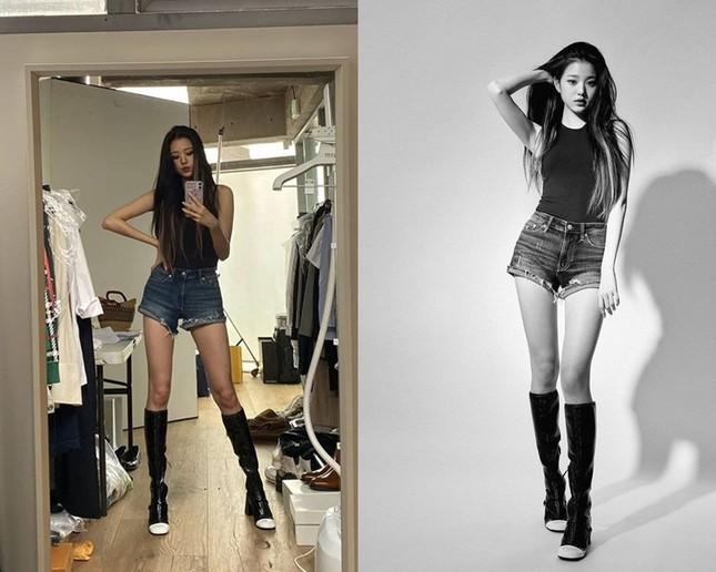 Chân dài như Jang Won Young cũng khổ: Đi tìm ứng dụng giúp thu ngắn chân khi chụp ảnh ảnh 4