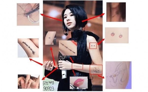 Netizen phát hoảng khi kiểm đếm số lượng hình xăm trên người Chaeyoung (TWICE) hiện giờ ảnh 2