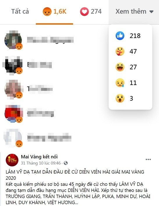 Bị anti-fan đòi tẩy chay giải Mai Vàng, Lâm Vỹ Dạ vẫn bình tĩnh làm điều này trên Facebook ảnh 1