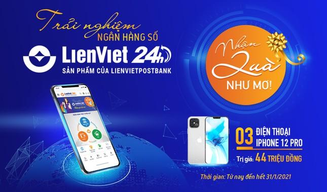 Trải nghiệm LienViet24h: Nhận quà như mơ, biết đâu trúng iPhone 12 Pro Max! ảnh 1