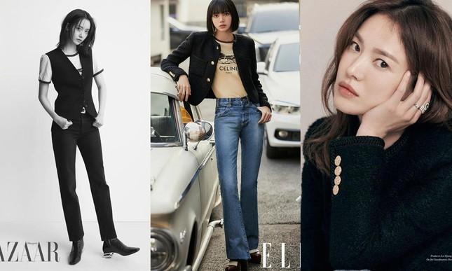 """Đỉnh như Lisa: Một set đồ mà đụng hàng tới hai """"tường thành sắc đẹp"""" Song Hye Kyo, Yoona ảnh 6"""