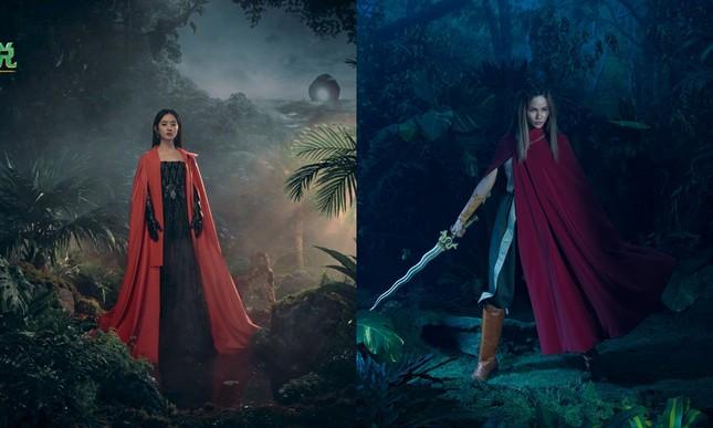 Cùng tạo hình công chúa Raya, Hoa hậu H'Hen Niê và Triệu Lệ Dĩnh ai thần thái hơn? ảnh 7