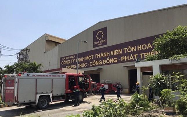 Tôn Hoa Sen: Vụ cháy không ảnh hưởng kết quả sản xuất kinh doanh ảnh 1