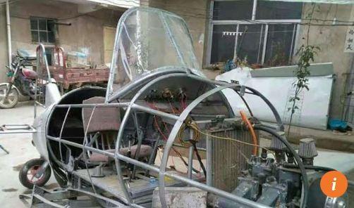 Nông dân Trung Quốc chế tạo máy bay từ phế liệu ảnh 3