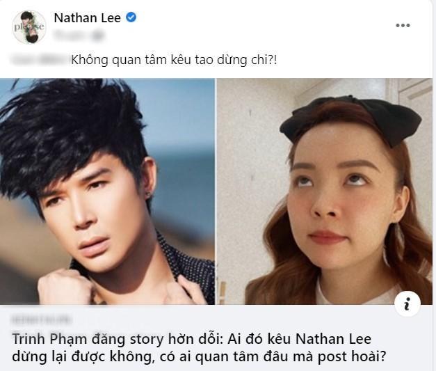 """Hết Cao Thái Sơn, Nathan Lee lại """"tuyên chiến"""" với Xuân Lan và YouTuber Trinh Phạm ảnh 5"""