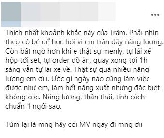 """Thiều Bảo Trâm được khen ngợi tự lập, anti-fan ám chỉ """"quen dựa dẫm ê-kíp Sơn Tùng M-TP"""" ảnh 1"""