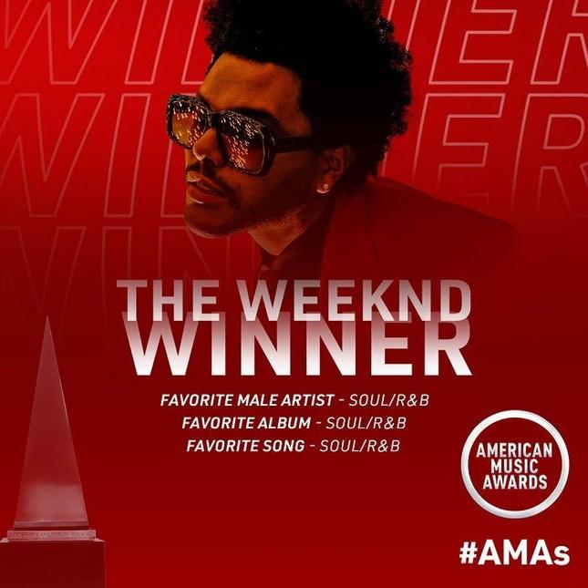 """BTS, Taylor Swift, The Weeknd và Justin Bieber """"càn quét"""" giải thưởng AMAs ảnh 2"""