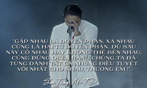 """Netizen tranh cãi vì câu nói """"duyên phận"""" của Sơn Tùng, ẩn ý dành cho Thiều Bảo Trâm? ảnh 2"""