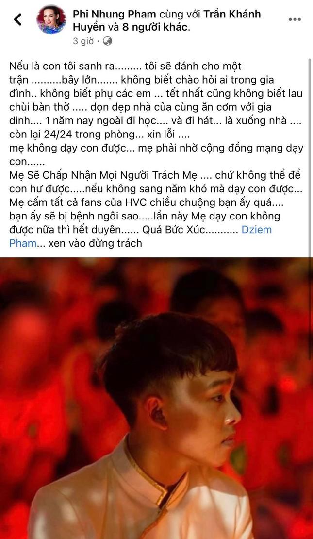 """Phi Nhung bức xúc khi con trai nuôi Hồ Văn Cường mắc bệnh ngôi sao, khẳng định """"hết duyên"""" nếu không thay đổi ảnh 1"""