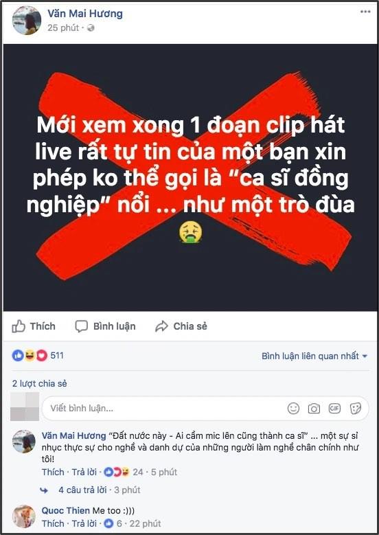 """Văn Mai Hương nhận mình hát không tốt bằng Hương Tràm, Chi Pu """"ngồi không dính đạn"""" ảnh 4"""