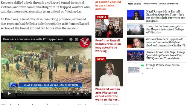 Báo nước ngoài đưa tin về cuộc giải cứu nạn nhân sập hầm ảnh 1