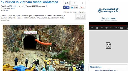 Báo nước ngoài đưa tin về cuộc giải cứu nạn nhân sập hầm ảnh 2