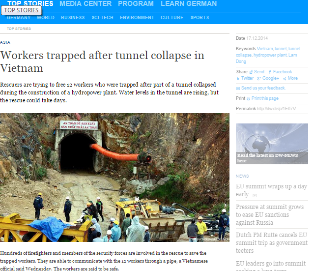 Báo nước ngoài đưa tin về cuộc giải cứu nạn nhân sập hầm ảnh 4