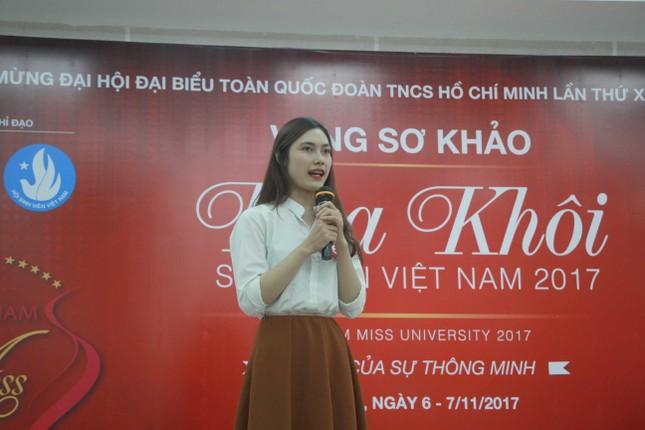 Nữ sinh duyên dáng, tự tin thi tài Hoa khôi sinh viên Việt Nam 2017 ảnh 9