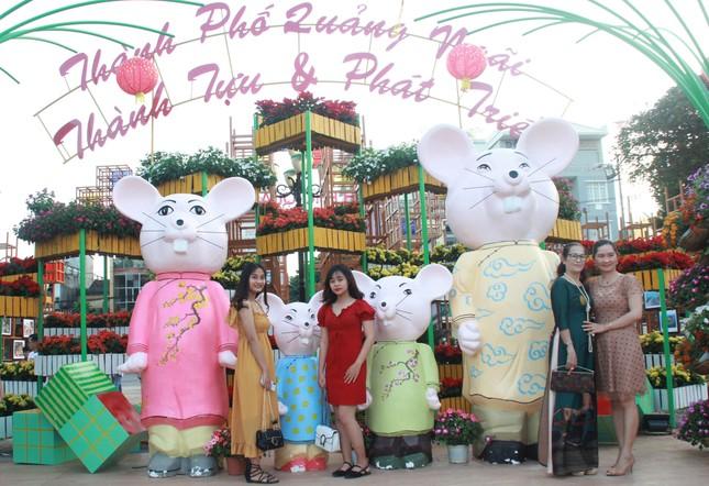 Người dân Quảng Ngãi rộn ràng 'check-in' với gia đình chuột ở công viên Ba Tơ ảnh 5