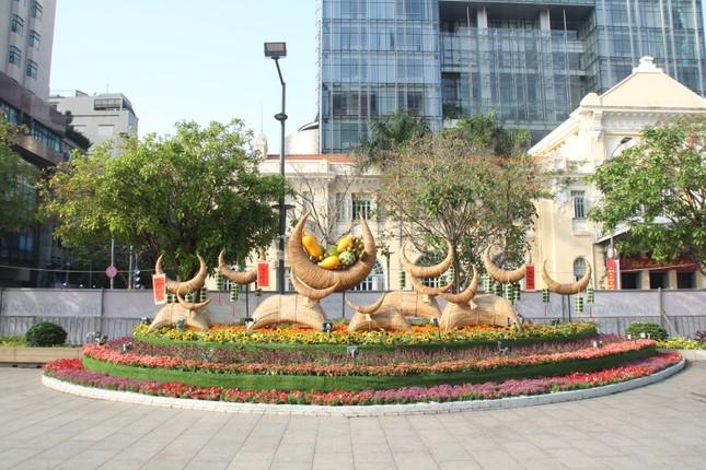 Đường hoa Nguyễn Huệ mở cửa đón khách từ sáng 10/2, yêu cầu không bỏ khẩu trang chụp hình, selfie ảnh 14