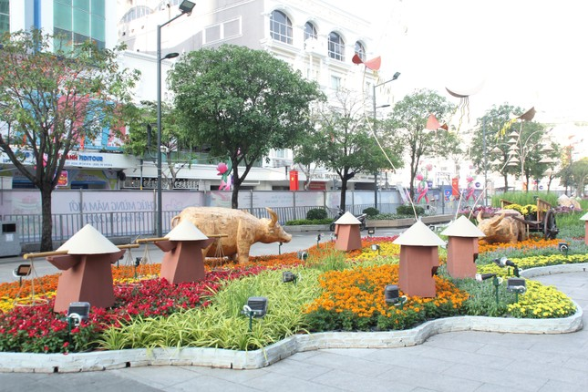 Đường hoa Nguyễn Huệ mở cửa đón khách từ sáng 10/2, yêu cầu không bỏ khẩu trang chụp hình, selfie ảnh 10