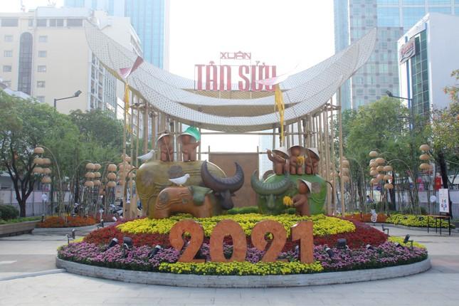 Đường hoa Nguyễn Huệ mở cửa đón khách từ sáng 10/2, yêu cầu không bỏ khẩu trang chụp hình, selfie ảnh 7