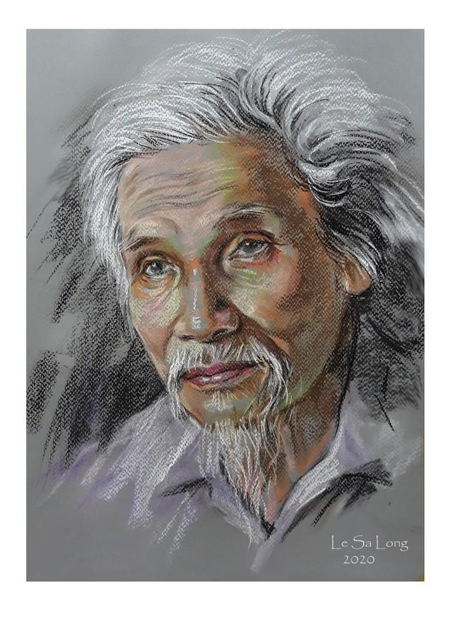 Ngày thơ, ngắm chân dung các nhà thơ tên tuổi Việt Nam qua tranh ký họa ảnh 7