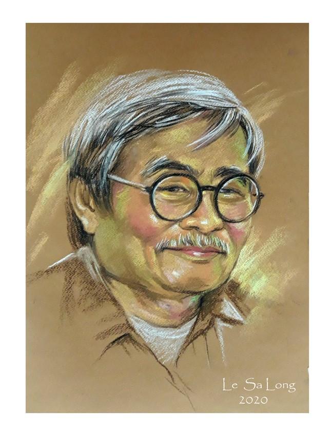 Ngày thơ, ngắm chân dung các nhà thơ tên tuổi Việt Nam qua tranh ký họa ảnh 8