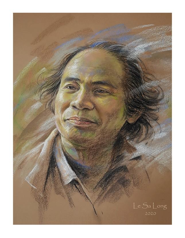 Ngày thơ, ngắm chân dung các nhà thơ tên tuổi Việt Nam qua tranh ký họa ảnh 4