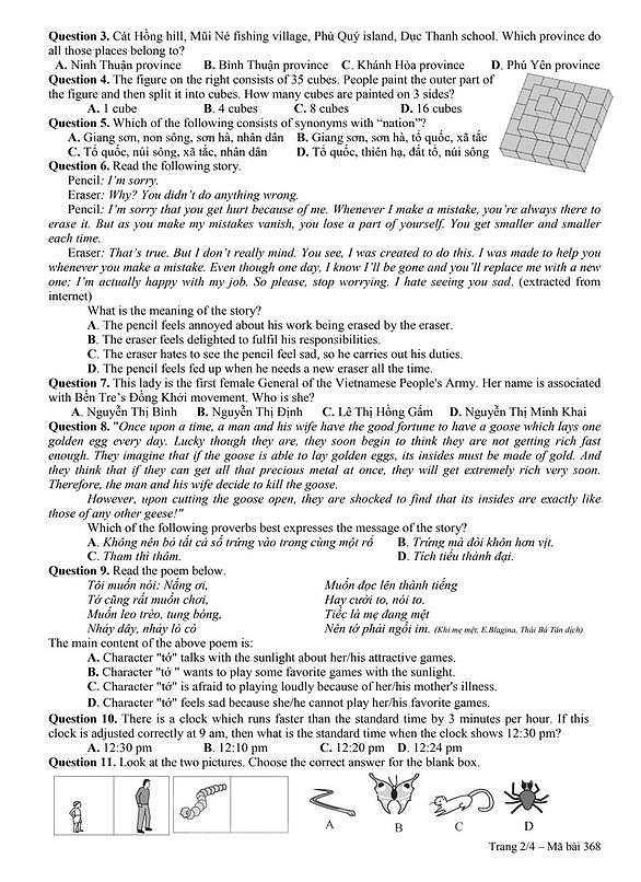 Công bố đề và đáp án bài khảo sát năng lực vào lớp 6 Chuyên Trần Đại Nghĩa ảnh 4