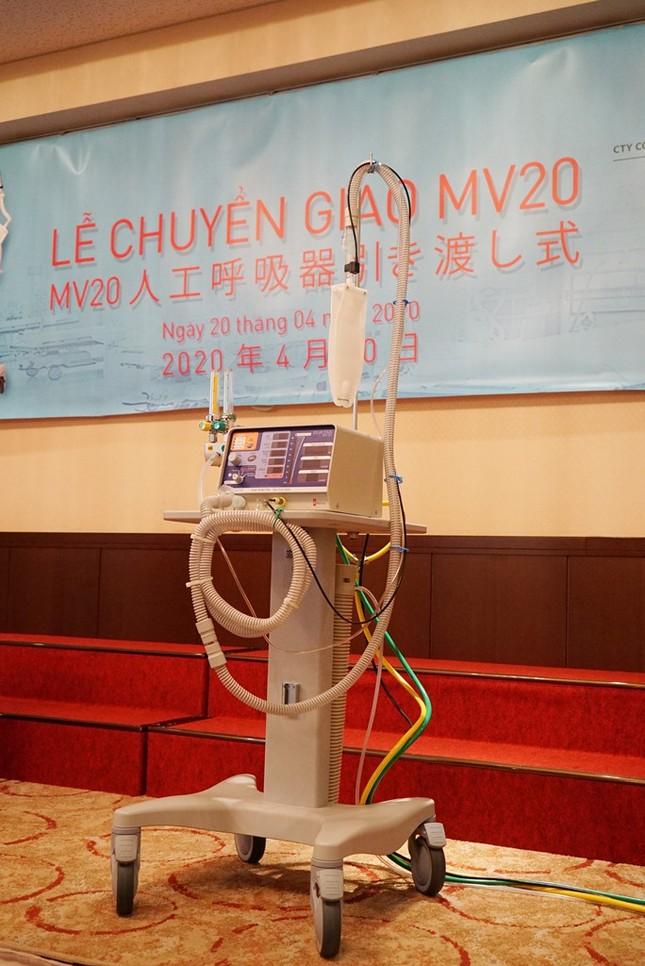 Bàn giao máy thở MV20 cho Việt Nam chống dịch COVID-19 ảnh 1
