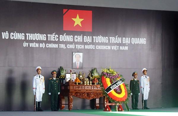 Người dân quê nhà viếng Chủ tịch nước Trần Đại Quang ảnh 1