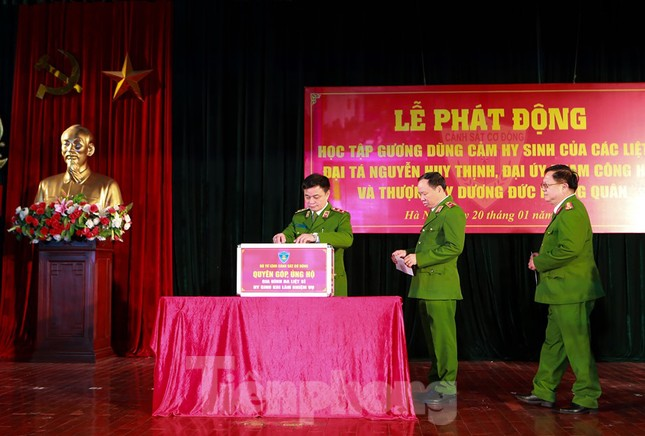 Phát động học tập 3 liệt sỹ anh dũng hy sinh ở Đồng Tâm ảnh 1