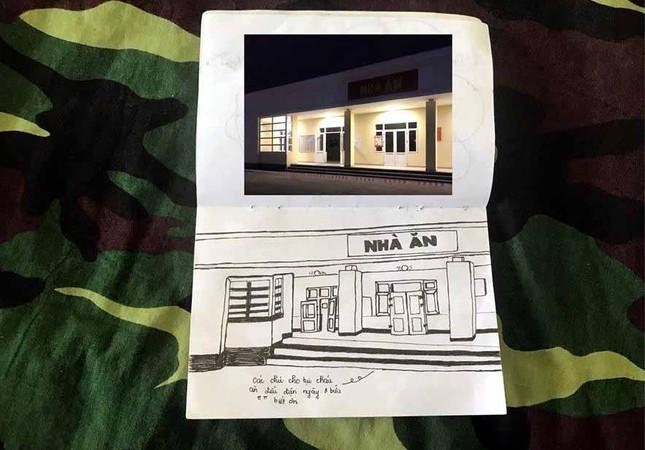 Xúc động tranh vẽ 14 ngày cách ly trong doanh trại của cô gái 18 tuổi ảnh 10