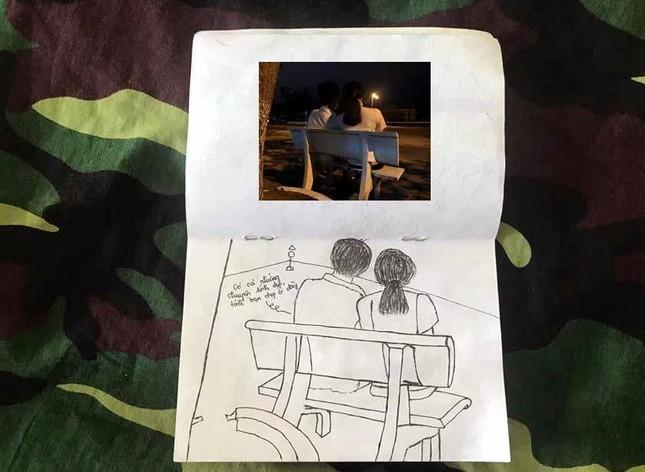 Xúc động tranh vẽ 14 ngày cách ly trong doanh trại của cô gái 18 tuổi ảnh 11