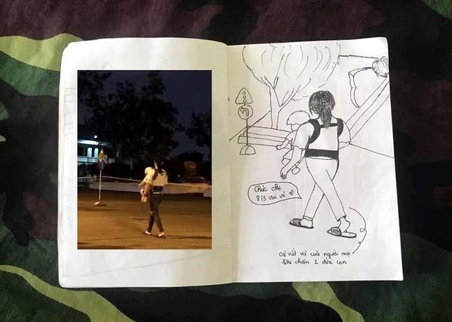 Xúc động tranh vẽ 14 ngày cách ly trong doanh trại của cô gái 18 tuổi ảnh 12