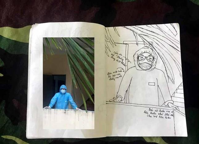 Xúc động tranh vẽ 14 ngày cách ly trong doanh trại của cô gái 18 tuổi ảnh 14