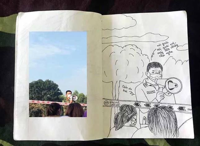 Xúc động tranh vẽ 14 ngày cách ly trong doanh trại của cô gái 18 tuổi ảnh 15