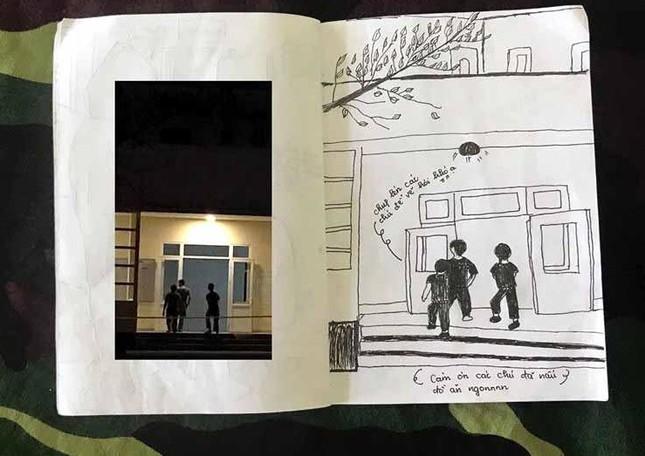 Xúc động tranh vẽ 14 ngày cách ly trong doanh trại của cô gái 18 tuổi ảnh 17