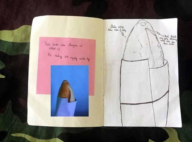 Xúc động tranh vẽ 14 ngày cách ly trong doanh trại của cô gái 18 tuổi ảnh 2