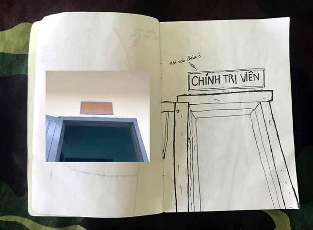 Xúc động tranh vẽ 14 ngày cách ly trong doanh trại của cô gái 18 tuổi ảnh 3