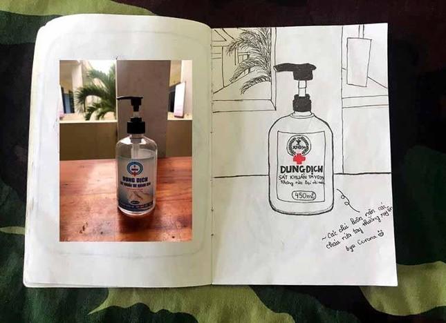 Xúc động tranh vẽ 14 ngày cách ly trong doanh trại của cô gái 18 tuổi ảnh 7