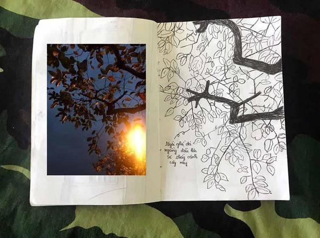 Xúc động tranh vẽ 14 ngày cách ly trong doanh trại của cô gái 18 tuổi ảnh 9