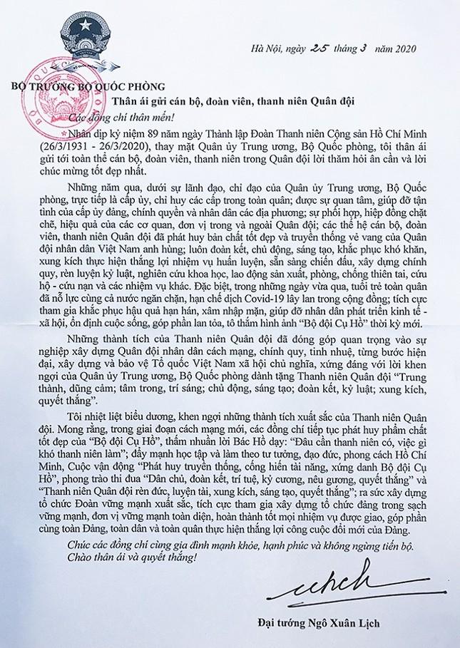 Đại tướng Ngô Xuân Lịch: Thanh niên Quân đội xứng đáng với lời khen ngợi ảnh 2