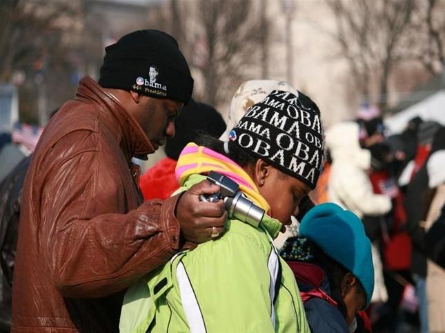 'Luther King mỉm cười' trongLễ nhậm chức củaObama ảnh 8