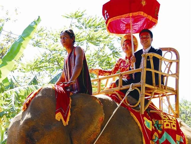 Lễ rước dâu độc nhất vô nhị bằng 20 chú voi ảnh 1