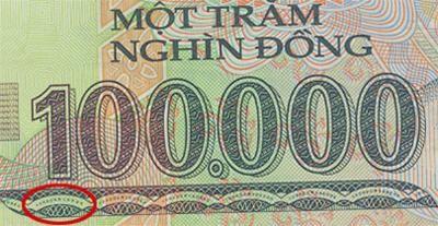 Tiền polymer 100.000 đồng cũng có lỗi? ảnh 1