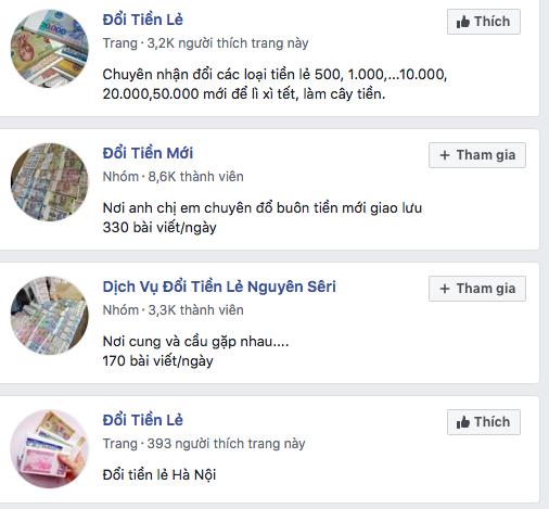 'Chợ đổi tiền lẻ' hoạt động rầm rộ trên mạng xã hội ngày cận Tết ảnh 1