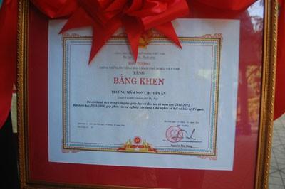 Trường MN Chu Văn An đón nhận bằng khen của Thủ Tướng Chính Phủ ảnh 4